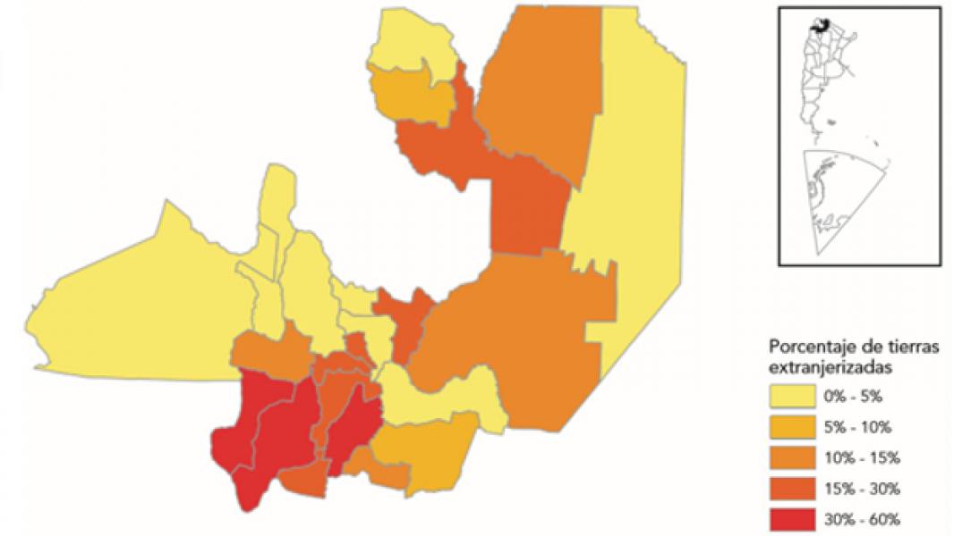 En Salta, cerca del 11% de las tierras se encuentran en manos de personas extranjeras.