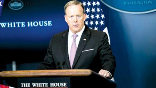 El vocero de la Casa Blanca, Sean Spicer consideró que hubo un nuevo error de Trump.