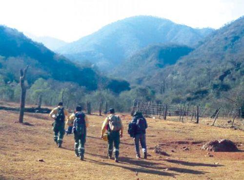 Una comisión logró encontrar a todas las personas que habían subido al cerro.