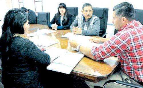 Reunión de la comisión de Derechos Humanos en el Concejo Deliberante.