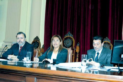 En un momento la sesión de Diputados fue presidida por Liliana Guitián.