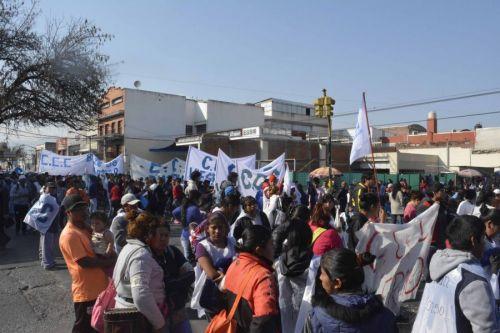 Los manifestante cortaron San Martín durante una hora.