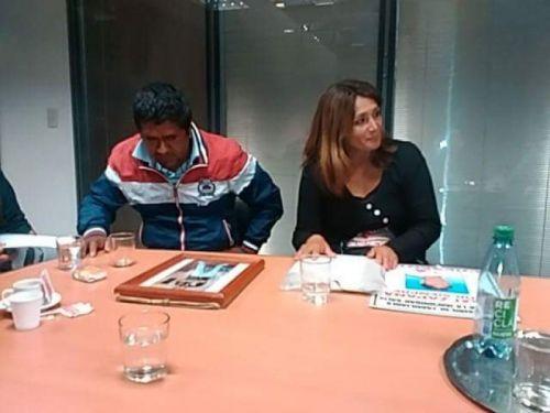 Luis Guanuco y Beatriz Aparicio se reunieron ayer con García Salado.