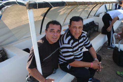 Rioja junto a su ayudante de campo, Nepy Rodríguez.