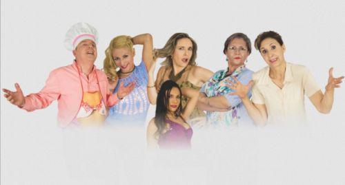 """El elenco de """"Suegras Bárbaras"""" del grupo El Altillo que dirige Marisa Ruiz."""