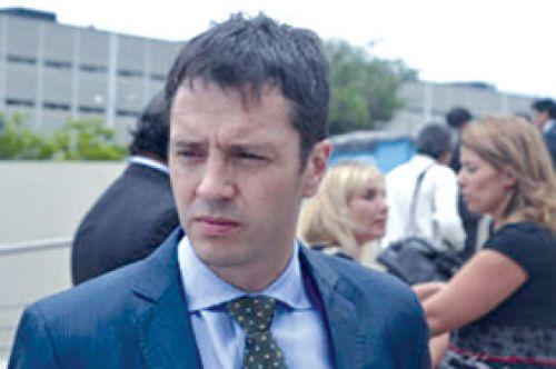 El fiscal de la causa Ramiro Ramos Ossorio, quien estuvo al frente ayer de los operativos de rescate del cuerpo de Paola Alvarez.