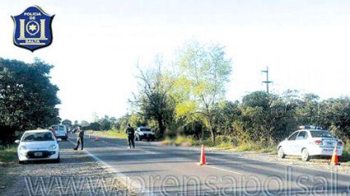 Un peaton falleció sobre la ruta 50, con lo que la cifra de víctimas fatales por accidentes de tránsito subió a 117.