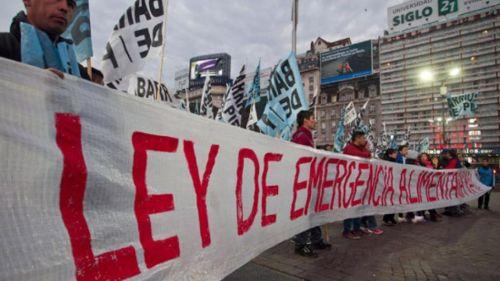 Organizaciones sociales y la demanda de la Ley de Emergencia Alimentaria
