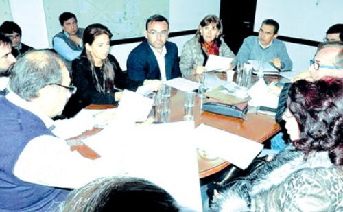 Reunión de Labor Parlamentaria en el Concejo Deliberante capitalino.