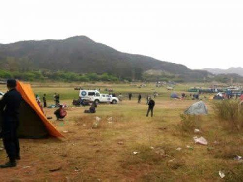 La joven víctima encontrada cerca del camping del dique tendría 25 años y según trascendió se trataría de un femicidio.