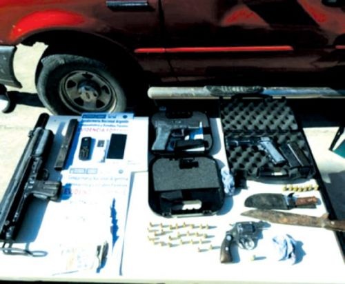 Armas secuestradas por los gendarmes en Yariguarenda.