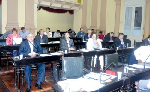 Sesión de la Cámara de Diputados de la Provincia.