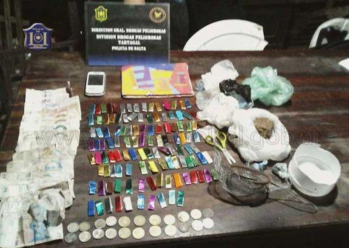 Las dosis de droga incautadas estaban listas para ser comercializadas al menudeo.