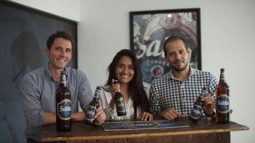 Francisco Morales,  Vilma Vilte y Ramiro Cuartero, equipo técnico de Cerveza Salta