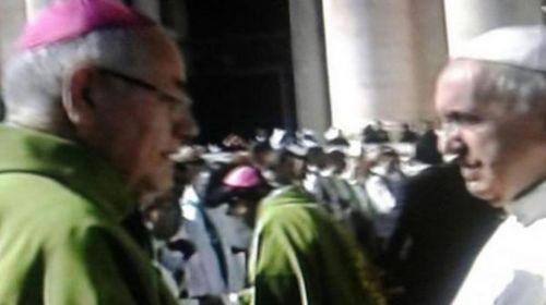 El Obisco de Añatuya junto al Papa Francisco.