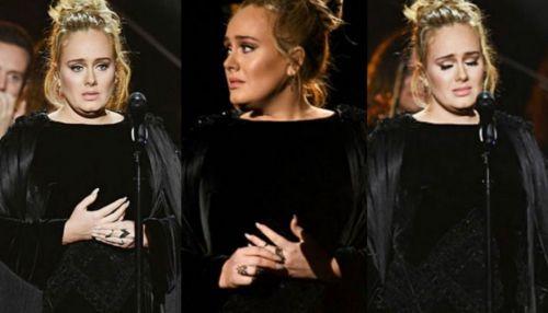 El incómodo momento de la cantante británica en el homenaje a George Michael en los Grammy.