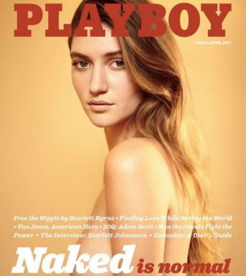 La portada de Playboy promociona nuevamente los desnudos.