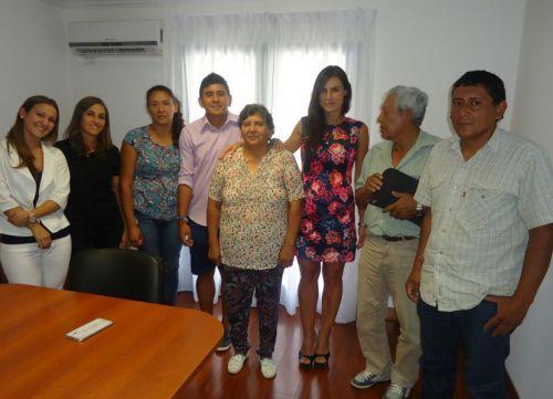 La ministra Pamela Calletti y familiares.