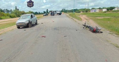 Uno de los accidentes ocurrió en Metán entre los conductores de una motocicleta y un automóvil.
