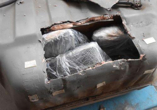 la droga fue encontrada en un tanque de nafta de un auto (foto ilustrativa).