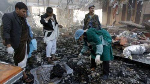 El bombardeo fue durante el funeral de la madre del ministro del Interior rebelde (Foto: Telam)