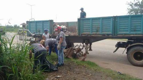Trabajadores recarizados del Programa Lucha Contra el Dengue,de Colonia Santa Rosa carecen de elementos de trabajo (Foto Conegliano - Orán).