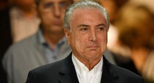 """El presidente de Brasil Michel Temer dijo que no va a renunciar, ya que hacerlo sería """"una declaración de culpa""""."""