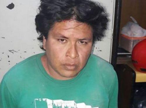 """El delincuente de apellido Ortiz de 35 años, tenía en su poder a """"Nicol"""" y orden de captura internacional."""