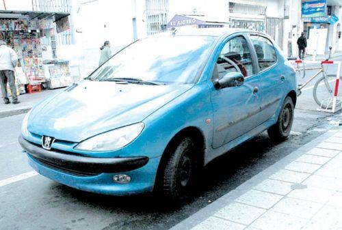 El vehículo de la foto es el que conducía Natalia Otero.
