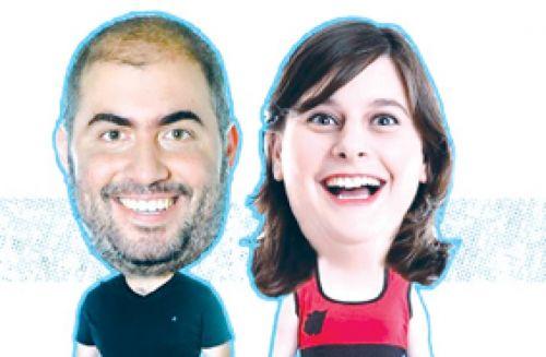 Diego Maggio y Laila Roth, dos standaperos en acción en El Teatrino.