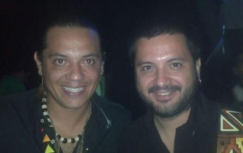 """Lucio """"El Indio"""" y Jorge Rojas, anfitriones y figuras de la 9º Fiesta de la Cultura Nativa en Santa Victoria Este."""
