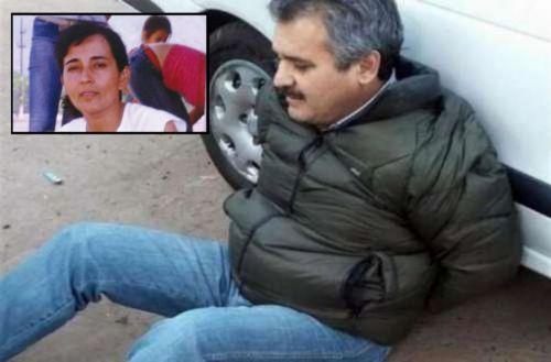 Delfín Castedo apresado luego de estar prófugo y la pequeña productora asesinada Liliana Ledesma.
