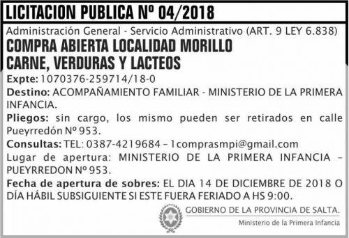 Licitación: Licitacion Publica 04 MPI 2x5 ND