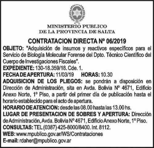 Licitación: Ministerio Público