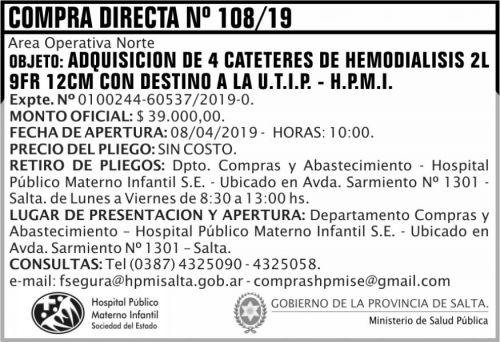 Compra Directa: Compra Directa 108 HPMI AON MSP