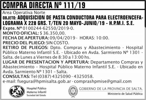 Compra Directa: Compra Directa 111 HPMI AON MSP