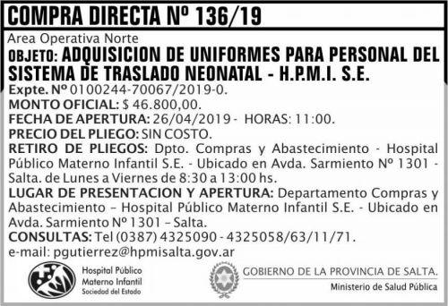 Compra Directa: Compra Directa 136 HPMI AON MSP