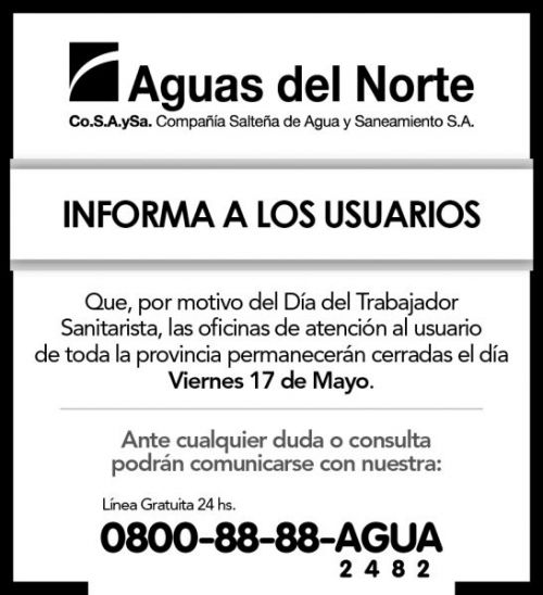 Licitación: AGUAS DEL NORTE 2X8 (1)