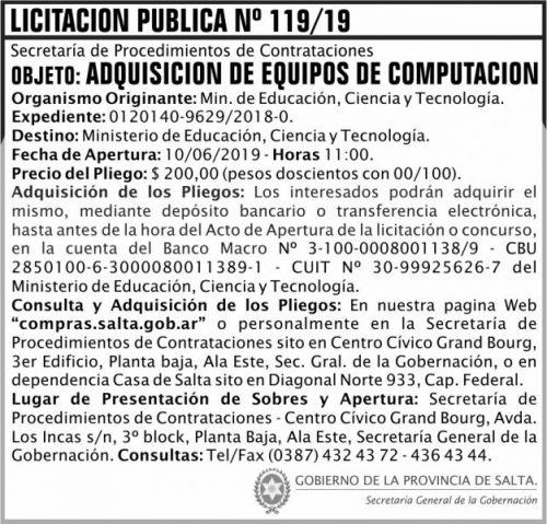 Licitación: Licitacion Publica 119
