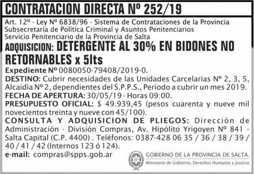 Contratación: Contratacion Directa 252
