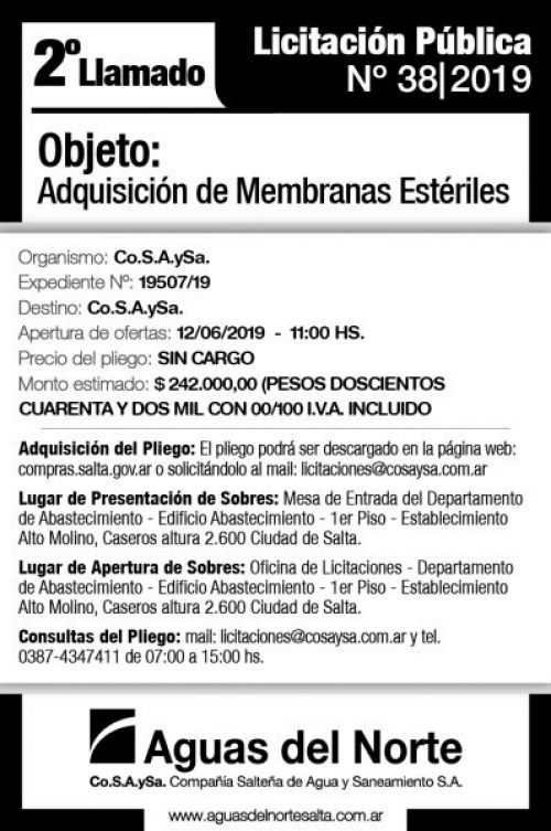 Licitación: AGUAS DEL NORTE 2X11