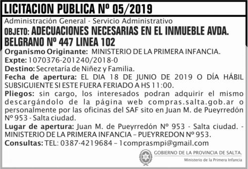 Licitación: Licitacion Publica 05 MPI