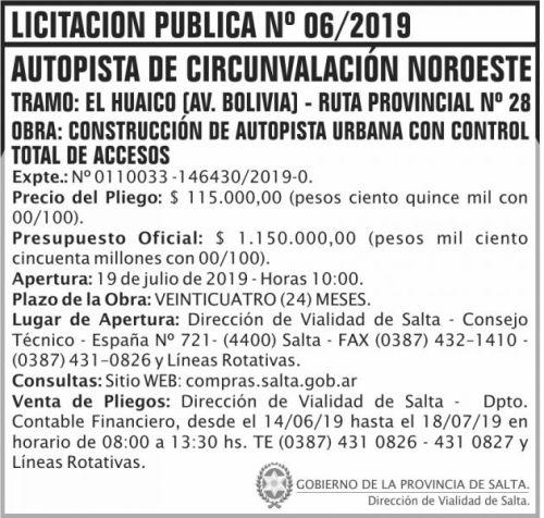 Licitación: Licitacion Publica 06 DVS