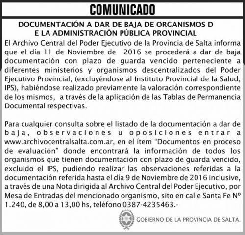 Edictos / Comunicados: COMUNICADO