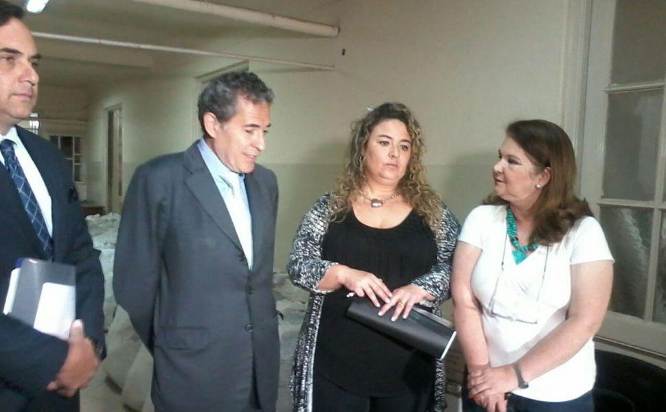 Renato Rabbi, Baldi Cabanillas, Maria Laura Martinez (Prensa de la Justicia Federal) y Mónica Zannier