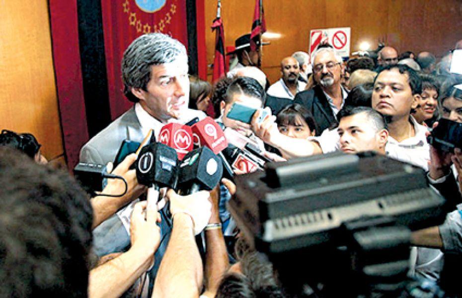 """""""Hay un déficit consolidado de todas las provincias de 87 mil millones"""", advirtió el nuevo jefe de Gabinete, Fernando Yarade."""