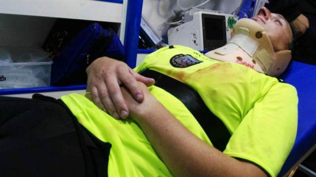 Amiconi, uno de los árbitros agredidos en Pergamino el martes pasado.