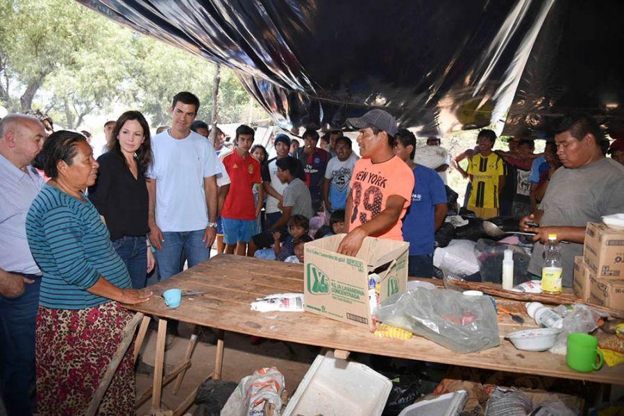 Con el aporte de 10 millones de pesos desde Nación, Urtubey indicó que se utilizará en obras para reestablecer la zona inundada.