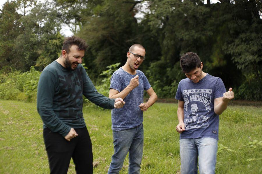 """Pulpo son: Martín Misa, Fernando """"Fefe"""" Botti y Martín """"Mu"""" Sánchez. Debutan en vivo el sábado 10 en El Teatrino."""