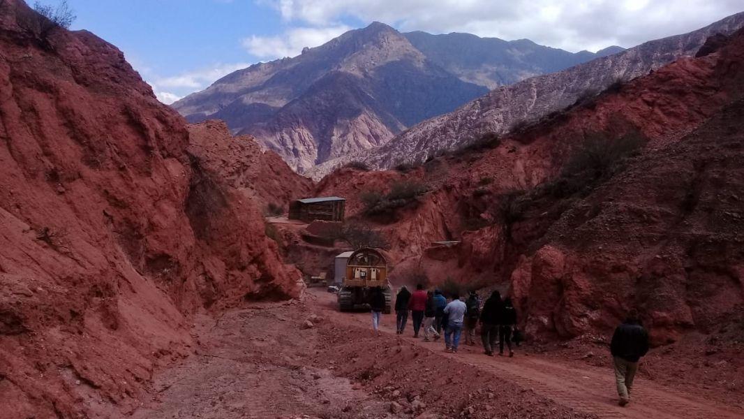 """Los vecinos de """"La Yesera"""", un área preservada en Cafayate terminaron echando a la minera que hacía una exploración ilegal."""